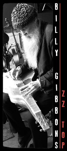 billy gibbons meloduende guitras